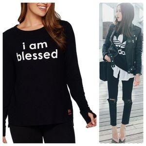 •PEACE LOVE WORLD• I Am Blessed Sweatshirt Sz M